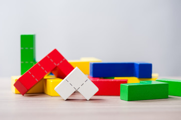 wooden puzzle blocks toy