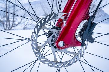 wheel hub of fat bike with disc brake
