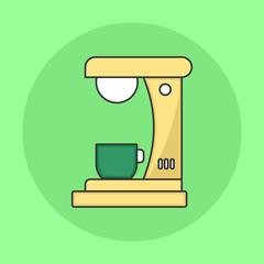Minimalist Coffee Maker Flat Icon