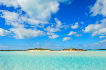 A pristine, tropical beach in the Bahamas.  Located near Norman's Cay anchorage.