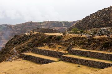 Tipon - Inca ruins of agricultural terraces in Peru