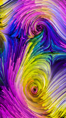 Waves of Colorful Paint