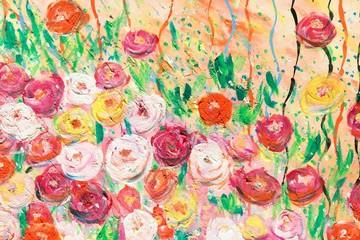 Blumen - Malerei von Carola Vahldiek, Hintergrund für Ostern, Geburtstag, Liebe, Hochzeit, Frühling, Sommer