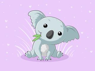 Süßer Comic Koalabär