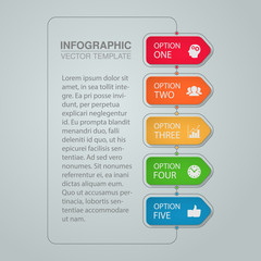 Vector infographic template for diagram, graph, presentation, chart, business concept with 5 options.