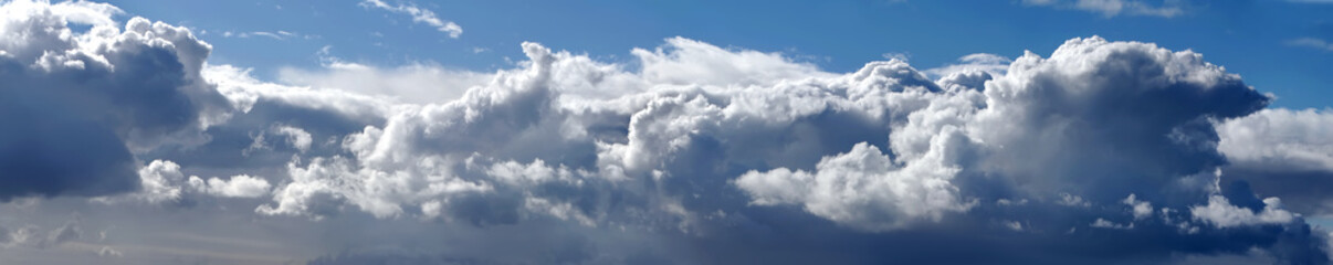 Beautiful dramatic sky panorama