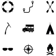 explorers icon set