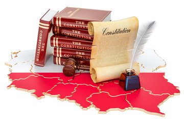 Constitution of Poland concept, 3D rendering
