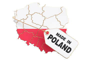 Made in Poland concept, 3D rendering Wall mural