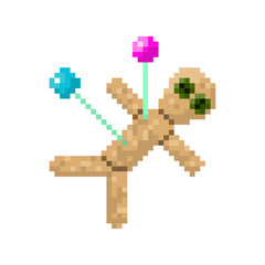Pixel voodoo doll for games and websites