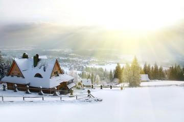 winter house mountain