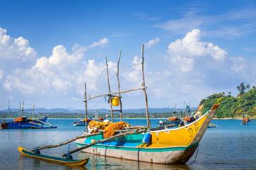Traditional Sri Lanka fishing boats