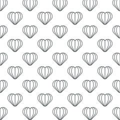 Organic heart pattern background