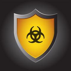 Shield Icon - Biohazard