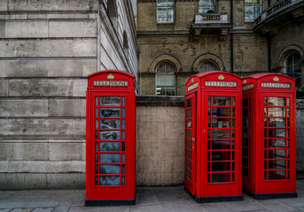 The iconic telephone booths in London are something you sure can't miss.