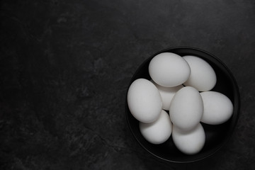 Chicken eggs in a bowl