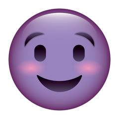 cute purple smile happy emoticon vector illustration