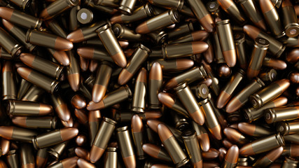 A lot of bullets. Background.
