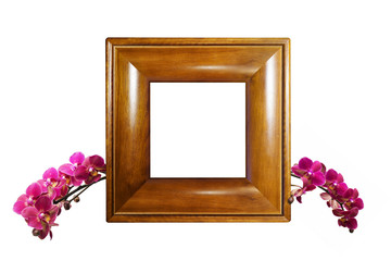 Photo frame with orchid branch