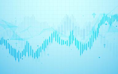 Stock market chart. Business graph background