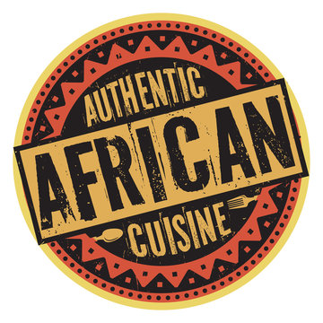 Authentic African Cuisine stamp