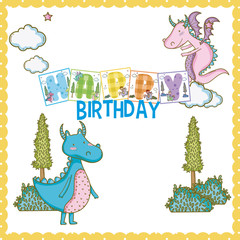 Happy birthday card for little boy