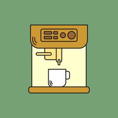 Automatic Espresso Machine Flat Icon