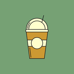 Ice Coffee Latte Cup Icon