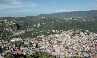 View of Taxco, Mexico, city of silver trade