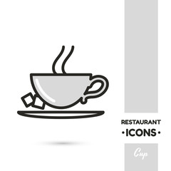 Cup Restaurant Icon Collection
