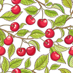 cherry branch vector pattern