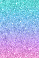 Glitter texture with blue pink color effect