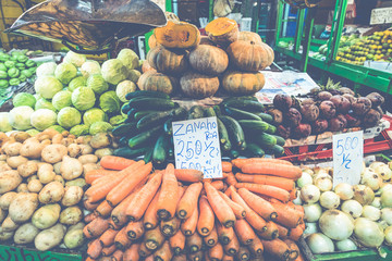 Fruits and vegetables.Farmer's Market. San Jose, Costa Rica, tropical paradise.