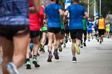 runners in city marathon