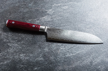 Chef's knife from Damascus steel. A real Japanese work of art.
