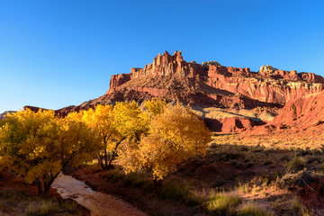 Capitol Reef National Park at Sunset in Autumn, Utah