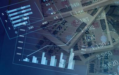 ビジネスイメージ 日本円とチャート