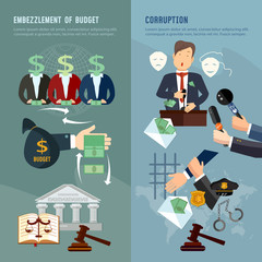 Anti-corruption fight stealing money from budget. Corruption deceitful politician, campaign promises, bribes. Theft of public money