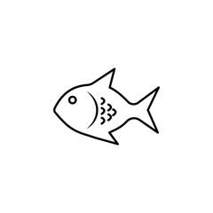 exotic fish icon.Element of popular tourism icon. Premium quality graphic design. Signs, symbols collection icon for websites, web design,