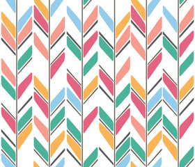 colorful diagonal strips vector seamless pattern