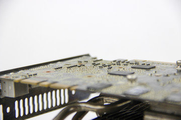 Details from the computer. Video card.