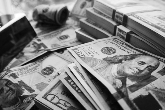 Millions In Black & White High Quality Stock Photo
