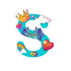 Cute magic letter S