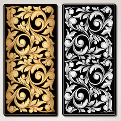 Ornate decorative vintage panel