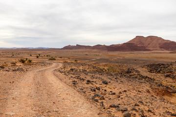 road in the desert, Sahara desert, Morocco