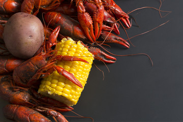 Boiled Crawfish with Corn and Potat