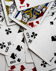 color background of playing cards