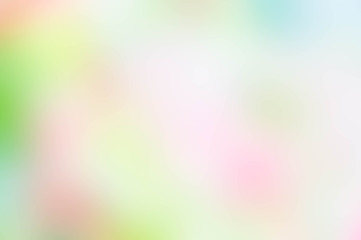 Texture blur green pink yellow and white mix color pastel nature background , abstract green pink mix color blur