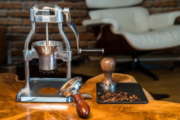Barista in Living Room - Espresso Grinder with portafilter
