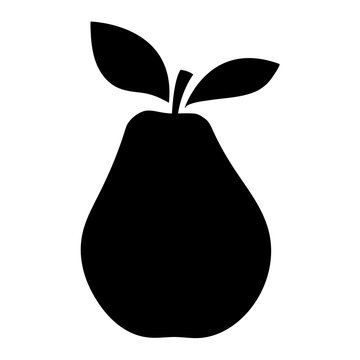 Silhouettes of an pear